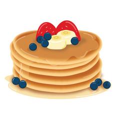 Pancake preview vector