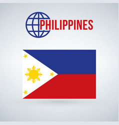 Philippines flag isolated on modern background vector