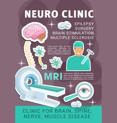 poster neuro medicine clinic vector image