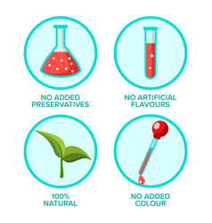 Preservatives free natural product vector