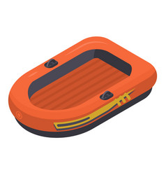 rescue rubber boat icon isometric style vector image