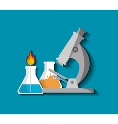 Science chemistry laboratory vector image