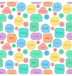 Seamless pattern speech bubbles social network vector
