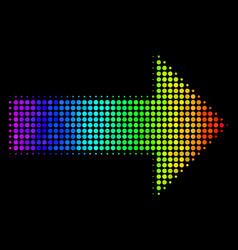Spectrum pixel right arrow icon vector