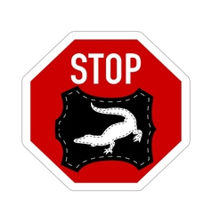 Stop crocodile leather vector