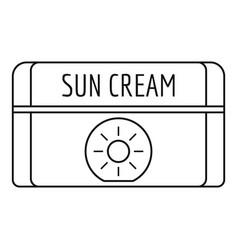 sun cream icon outline style vector image