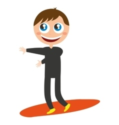 surfer character funny isolated vector image