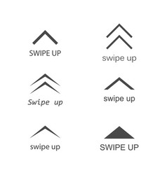 swipe up icon vector image