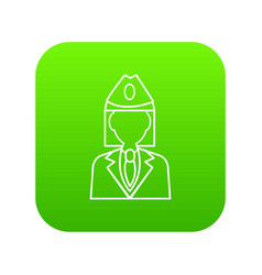 train conductor icon green vector image