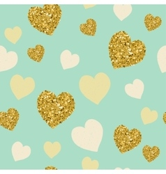 trendy hearts color seamless pattern vector image