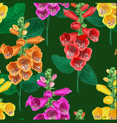 Tropical flowers seamless pattern summer floral vector