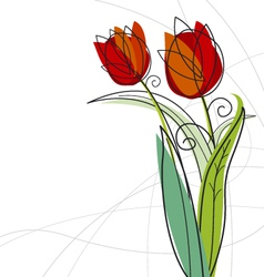 Tulips design vector
