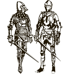 Two Soldiers vector image