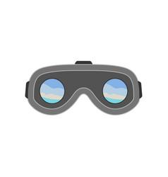 Virtual reality logo icon design template vector