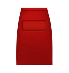 Waist apron mockup realistic style vector