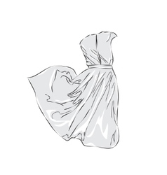 Women dress sketch vector image