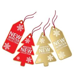 christmas sales tag vector image vector image