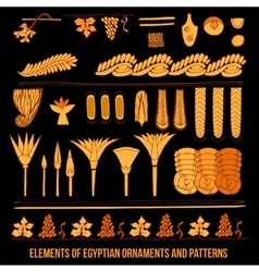 Elements of Egyptian ornaments vector image