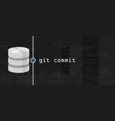 git commit programming coding server and database vector image vector image