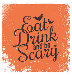 halloween party vintage lettering background vector image vector image