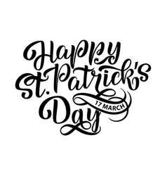 happy saint patrick s day vector image vector image