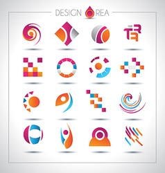 Set of design elements for your project vector image vector image