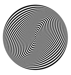 torsion circle design element vector image