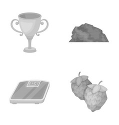 Alcohol sports and other monochrome icon in vector