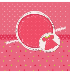 Baby girl shower with dress vector image vector image