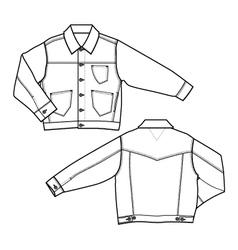 boy denim jackets vector image vector image