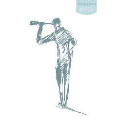 businessman looking future concept sketch vector image