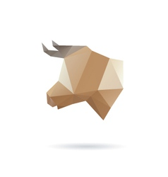 Cow head abstract isolated vector image vector image