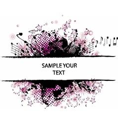 grunge border violet vector image vector image