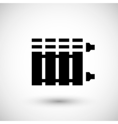 Heating radiator icon vector image vector image