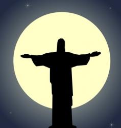 Jesus Christ statue vector image vector image