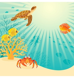 Sunny underwater life vector image vector image