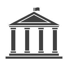 Academic Temple Outline Icon vector image vector image