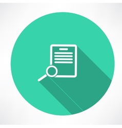 Documents search icon vector image