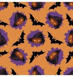Halloween Jack-o-lantern seamless pattern vector image vector image