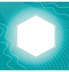 Modern hexagon frame button vector image