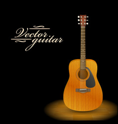 Music concept acoustic guitar vector