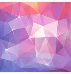 Abstract triangles ice background vector image vector image