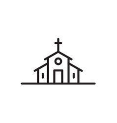 church icon catholic basilica vector image