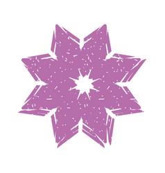 Cute summer flower icon vector