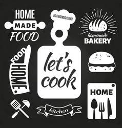 home made bakery and home cooking badges vector image vector image