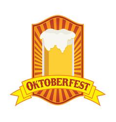 Oktoberfest yellow festival emblem badge design vector