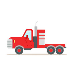 red cargo truck colorful cartoon vector image vector image