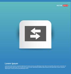 2 side arrow icon - blue sticker button vector