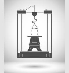 3d modeling and scanning technology printing icon vector image