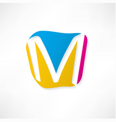 abstract icon based on the letter m vector image